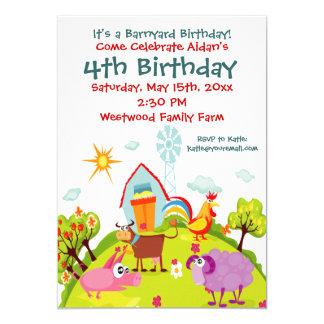 Invitations mignonnes d'anniversaire d'animaux de