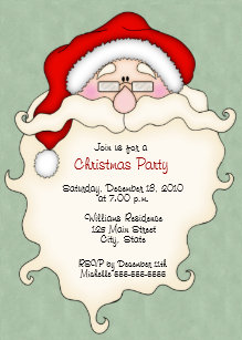 b56cc93a231b Invitations mignonnes de fête de Noël de Père Noël
