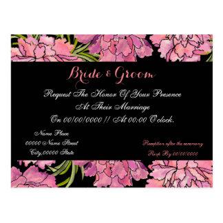 invitations mignonnes et élégantes de mariage de carte postale