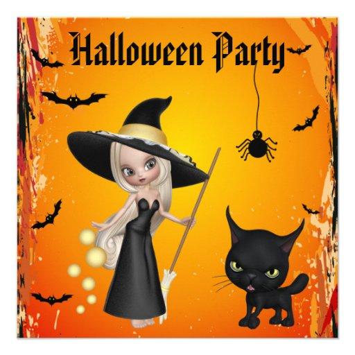 Invitations mignons de partie de Halloween de
