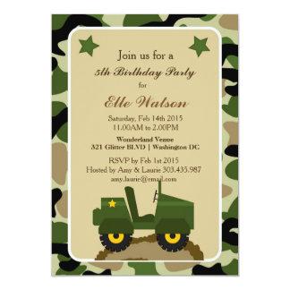 Invitations militaires de fête d'anniversaire de