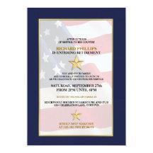 Invitations militaires de partie de retraite