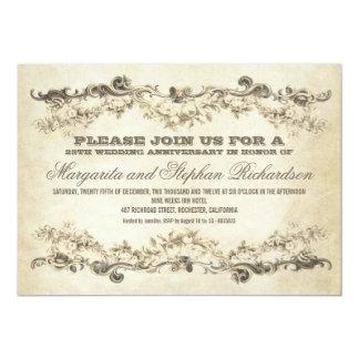 invitations minables vintages d'anniversaire