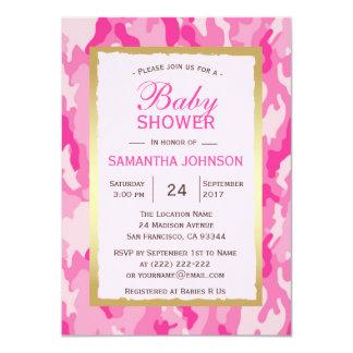Invitations modernes de baby shower du ROSE CAMO -