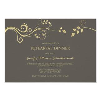 Invitations modernes de dîner de répétition de