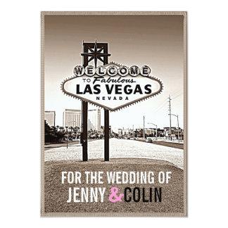 Invitations modernes de mariage de Las Vegas de Carton D'invitation 12,7 Cm X 17,78 Cm