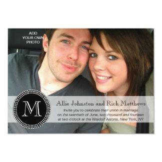 Invitations modernes de mariage de photo de