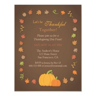 Invitations modernes de partie de thanksgiving de