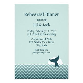 Invitations nautiques de dîner de répétition de