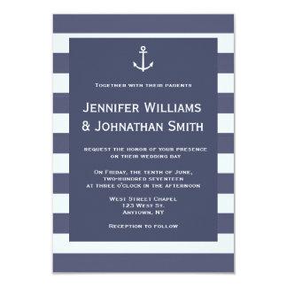 Invitations nautiques modernes de mariage de
