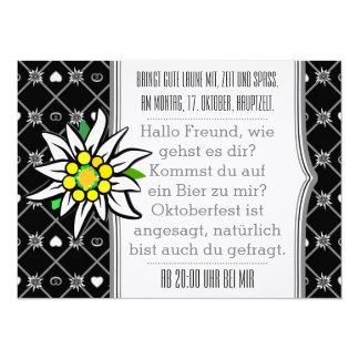 Invitations noires et blanches d'Oktoberfest