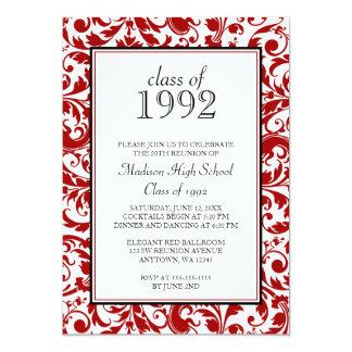 Invitations noires rouges de la Réunion de classe