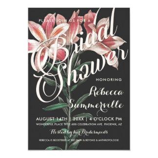 Invitations nuptiales botaniques de douche de beau