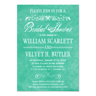 Invitations nuptiales de douche d'aquarelle carton d'invitation  12,7 cm x 17,78 cm