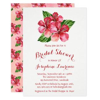 Invitations nuptiales de douche d'aquarelle rouge