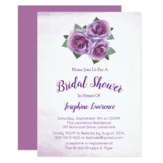 Invitations nuptiales de douche de bouquet de rose