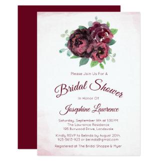 Invitations nuptiales de douche de bouquet rose de