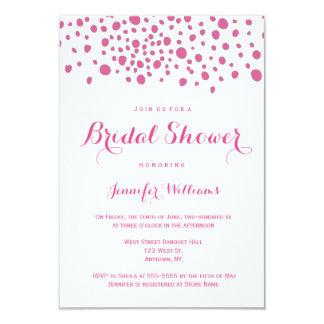 Invitations nuptiales de douche de champagne rose