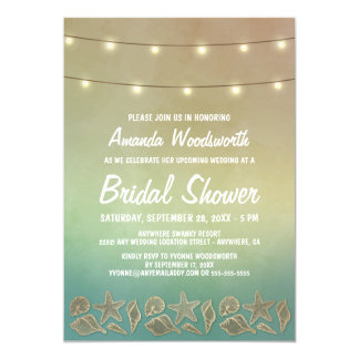 Invitations nuptiales de douche de coquillage