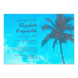 Invitations nuptiales de douche de palmiers
