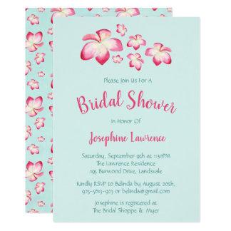 Invitations nuptiales de douche de Plumeria