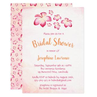 Invitations nuptiales de douche de Plumeria de