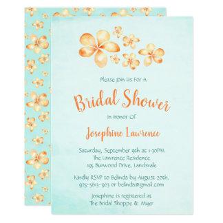 Invitations nuptiales de douche de Plumeria d'île