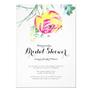 Invitations nuptiales de douche de rose
