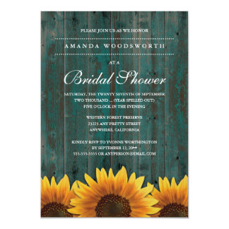 Invitations nuptiales de douche de tournesol