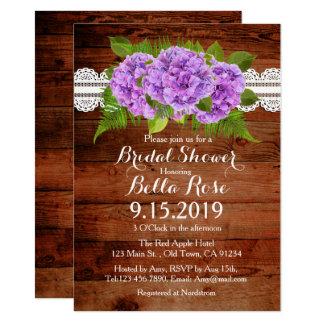 Invitations nuptiales de douche d'hortensia