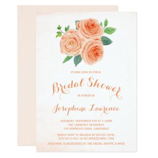 Invitations nuptiales florales de douche de roses