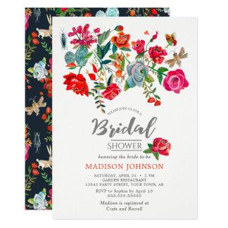Invitations nuptiales florales secrètes de la