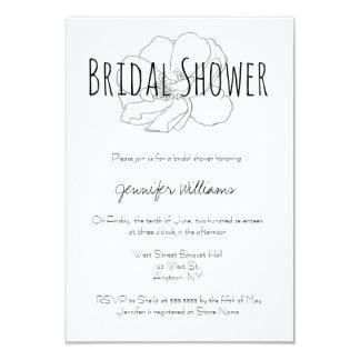 Invitations nuptiales modernes de douche de rose