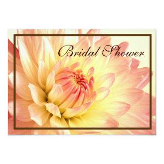 Invitations nuptiales oranges et roses de douche