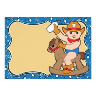 Invitations occidentales de baby shower de cowboy