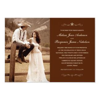 Invitations occidentales foncées de mariage de