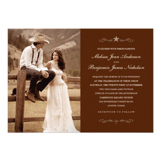 Invitations occidentales foncées de mariage de pho