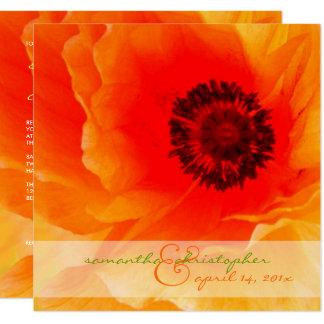 Invitations oranges de pavot/mariage