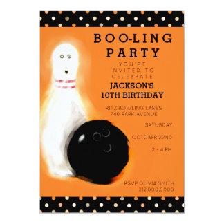 invitations orientées d'anniversaire de bowling