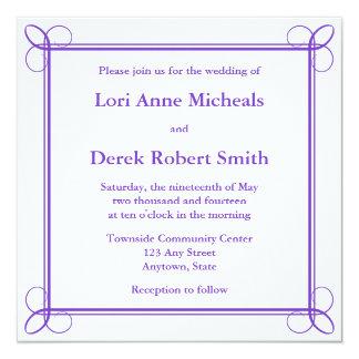 Invitations ou annonces carrées de mariage de