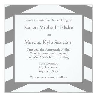 Invitations ou annonces carrées de mariage de gris