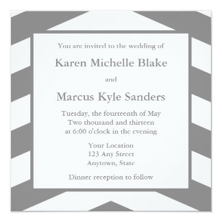 Invitations ou annonces carrées de mariage de gris carton d'invitation  13,33 cm