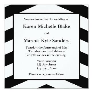 Invitations ou annonces de mariage de carré noir