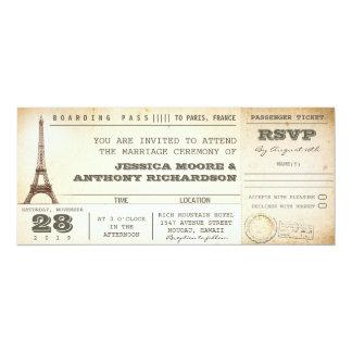invitations PARIS de billets de mariage de carte