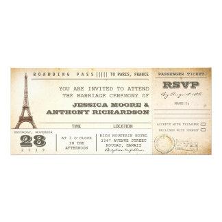 invitations PARIS de billets de mariage de carte d