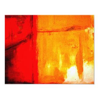 Invitations personnalisées par peinture abstraite
