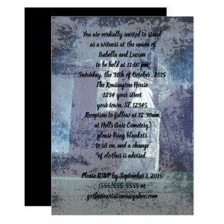Invitations pluvieuses de mariage de Goth de
