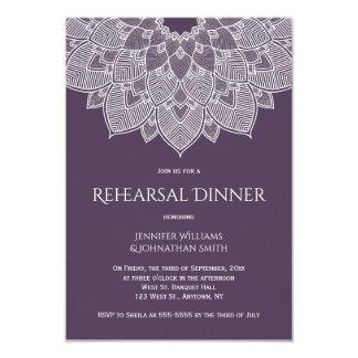 Invitations pourpres de dîner de répétition de