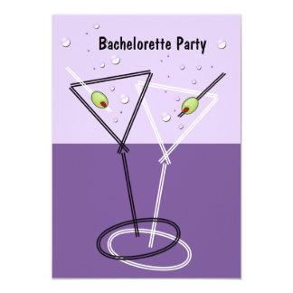 Invitations pourpres de partie de Martini