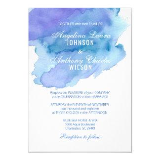 Invitations pourpres turquoises bleues de mariage